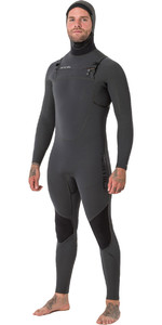 Animal Mens Phoenix Pro 5/4 / 3mm Com Capuz GBS Peito Zip Wetsuit Grafite Cinza AW8WN100