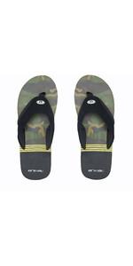 2020 Animal Slyde Slider-sandalen Voor Heren FM0SS008 - Zwart