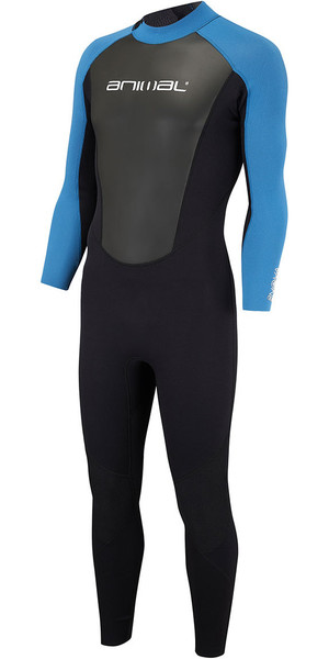 2018 Animal Nova 3 / 2mm Flatlock terug Zip Wetsuit Marina Blue AW8SN102