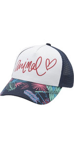 2019 Animal Sunnyside Mesh Back Trucker Cap Patriot Blue BC9SQ802