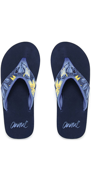 2018 Animal Swish Upper AOP Dame Flip Flops Dark Navy FM8SN307