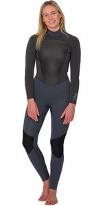 2019 Animal Womens Lava 4/3mm Back Zip GBS Wetsuit Grey AW9WQ302