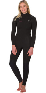 2019 Animal Vrouwen Phoenix 5/4/3mm Gbs Chest Zip Wetsuit Zwart Aw9wq300