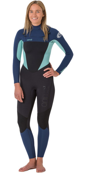 2018 Animal Womens Phoenix 5/4/3mm GBS Chest Zip Wetsuit Black AW8WN303