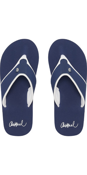 2019 Animal Womens Swish Block Flip Flops Dark Navy FM9SQ303