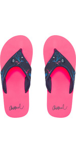 2019 Animal Womens Swish Øvre AOP Flip Flops Psycho Red FM9SQ307