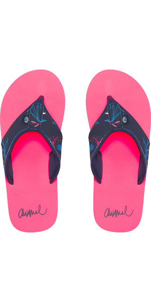 2019 Animal Womens Swish Upper AOP Flip Flops Psycho Red FM9SQ307