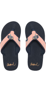 2019 Animal Womens Swish Øvre AOP Flip Flops Sunset Pink FM9SQ307