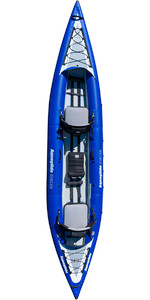 2019 Aquaglide Chelan HB Tandem XL 3 Man High Pressure Inflatable Kayak Blue - Kayak Only AGCHE3