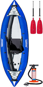 2019 Aquaglide Chinook 1 Man Inflatable Kayak BLUE + 1 FREE PADDLE + Pump