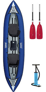2019 Aquaglide Chinook Tandem XL Schlauchboot BLAU & 2 PADDLES & Pumpe