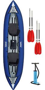 2019 Aquaglide Chinook Tandem Xl Kayak Gonfiabile Blu E 2 Pagaie E Pompa