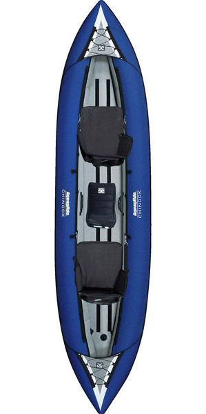 2018 Aquaglide Chinook Tandem 3 Man Kayak BLUE - Kayak only