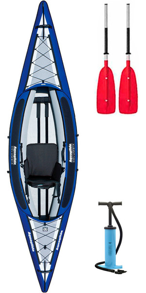 2019 Aquaglide Columbia  1 Man Inflatable Touring Kayak + 1 FREE PADDLE + PUMP