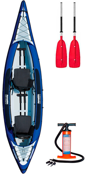 2018 Aquaglide Columbia XP 2 Man Touring Kayak + 2 FREE PADDLES + PUMP