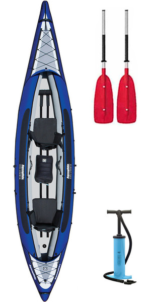 2017 Aquaglide Columbia XP Tandem XL Kayak + 2 FREE PADDLES + PUMP