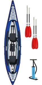 2017 Aquaglide Columbia XP Tandem XL Kayak + 2 FREE PADDLES + PUMP