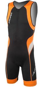 2019 Aropec Herre Løve Lycra Triathlon Dragt Sort Orange Ss3t106m