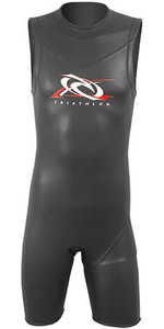 2019 Aropec Hombres Reno 3/2mm Back Zip Triatlón Short John Black Ds3t103m