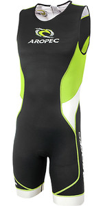 2019 Aropec Tri-compress Heren TX 1 Back Zip Lycra Triathlon Black Lime SS3TC109MBZ