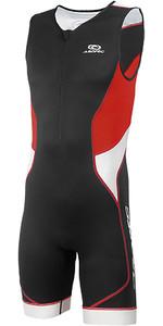 2019 Aropec Homens Tri-compressa Tx 1 Triathlon Lycra Terno Preto Vermelho Ss3tc109m