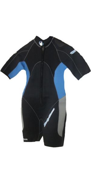 Bodyglove Aura 3mm Dive Shorty en Negro / Azul BG493