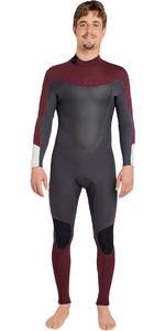 Billabong Absolute 3/2mm Gbs Back Zip Wetsuit Biking Rood H43m16
