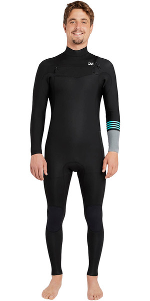 2018 Billabong Revolution Tribong 5 / 4mm Chest Zip Wetsuit NERO 2 F45M16