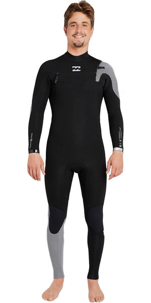 2018 Billabong Furnace Comp 4 / 3mm Chest Zip Wetsuit NERO 2 F44M14