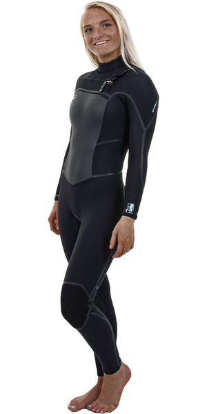 2018 O'Neill Womens Psycho Tech 5 / 4mm Chest Zip Wetsuit NEGRO 4989