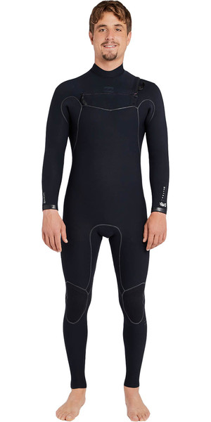 2018 Billabong four carbone Ultra 3 / 2mm poitrine combinaison zip noir F43M10