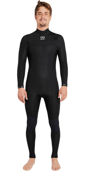 2018 Billabong Absolute Comp 3 / 2mm Chest Zip Traje de neopreno NEGRO F43M21