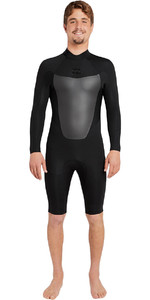 Billabong Absolute 2mm GBS Long Sleeve Back Zip Shorty Wetsuit BLACK H42M10