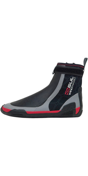 2019 Gul CZ Windward Pro 5mm Zipped Round Toe wetsuit Boot BLACK /GREY BO1279