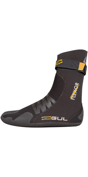 2019 Gul Flexor 3 mm split teen duikpak boot zwart BO1299-B4