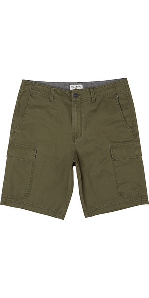 2018 Billabong ganzen Tag Cargo Walk Shorts DARK OLIVE H1WK21
