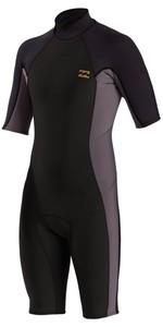 2021 Billabong Boys Absolute 2mm Spring Shorty Wetsuit MWSP3BAB - Charcoal