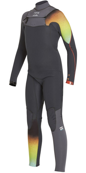 2018 Billabong Boys Furnace Carbon Comp 3/2mm Chest Zip Wetsuit GRAPHITE F43B11