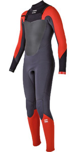 Billabong Junior Absolute Comp 4 / 3mm Cintura con cremallera GBS Wetsuit NARANJA H44B07