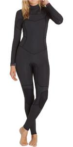 Billabong Ladies 4 / 3mm Synergy Chest Zip Wetsuit BLACK SANDS F44G11