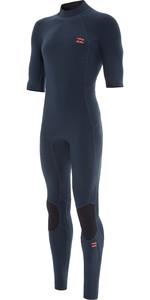 2021 Billabong Heren Absolute 2mm Flatlock Wetsuit Met Korte Mouwen Back Zip W42m70 - Slate Blue
