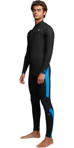 2019 Billabong Mens Furnace Absolute 3/2mm Chest Zip Wetsuit Blue Q43M08
