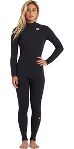 2019 Billabong Mulheres Furnace Carbono 4/3mm Chest Zip Wetsuit Preto Q44g31