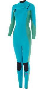 2020 Billabong Womens Synergy 4/3mm Chest Zip GBS Wetsuit U44G34 - Deep Sea