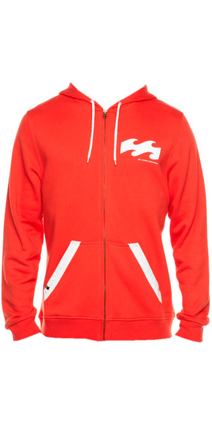 Billabong B-Foren Zip Hoodie in Red Fire L4HO01