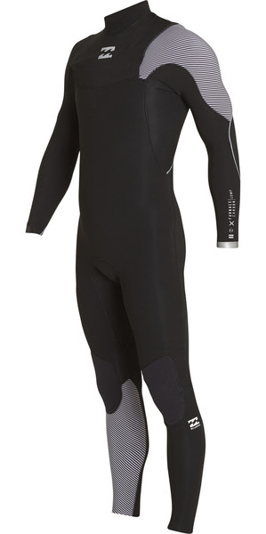 2018 Billabong Furnace Comp 5/4mm Zip Free Wetsuit BLACK 2 F45M15