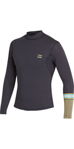 2019 Billabong Junior 2mm Revolusjon Dbah Ls Jakke Svart Sand N42b02