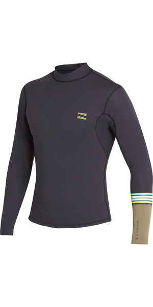 2019 Billabong Junior 2mm Revolution Dbah LS Jacket Black Sands N42B02