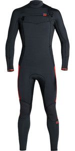 2020 Billabong Junior Jongen Furnace Absolute 3/2mm Chest Zip Gbs Wetsuit S43b63 - Rood Oranje