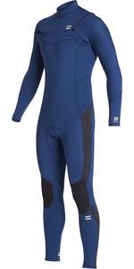 2020 Billabong Junior Boy's Furnace Absolute 3/2mm Chest Zip Gbs Wetsuit S43b63 - Azul